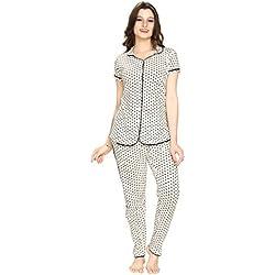 AV2 Women Cotton Printed Top & Pyjama Set