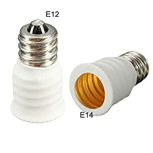 MECO Adaptateur convertisseur d'ampoule LED lampe douille lumière E12 Vers E14