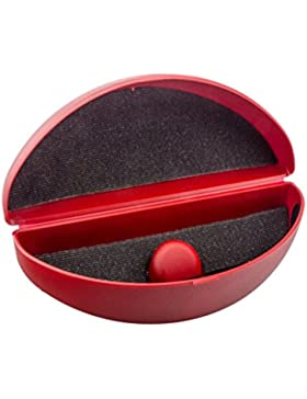 Estuche para gafas de sol y gafas curvadas con altura ajustable en diferentes colores (rojo)