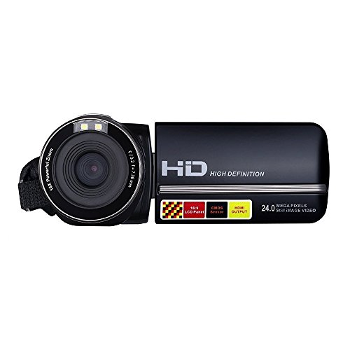 PowerLead Puto PLD009 2.7 'LCD de la Pantalla de Vídeo Digital Videocámara Night Vision 24MP Cámara HD Digital Cámara