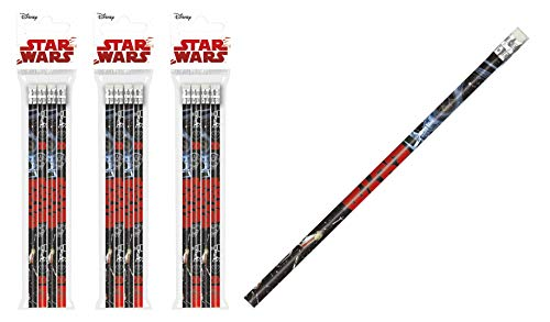 Lucas Film Star Wars- 12 x Bleistifte -hochwertig- mit Radiergummi - tolle Geschenkidee für Kinder