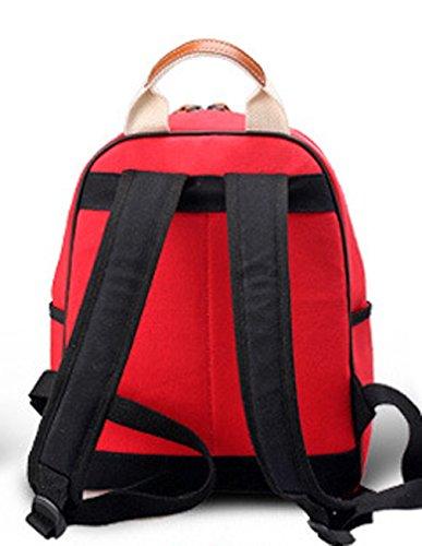 Keshi Leinwand Cool Damen accessories hohe Qualität Einfache Tasche Schultertasche Freizeitrucksack Tasche Rucksäcke Pink
