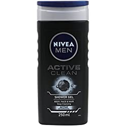 Nivea Men Active Clean Shower Gel, 250ml