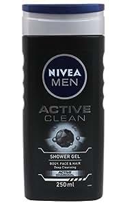 Nivea Men Active Clean Shower Gel, 250ml