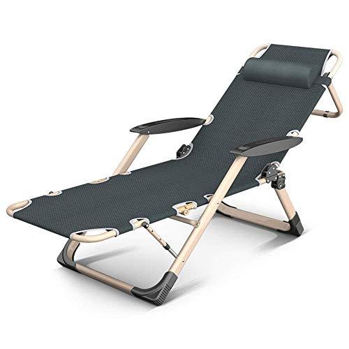 Sedia a sdraio per la spiaggia siesta con pisolino sedia con schienale multifunzione sedia da spiaggia con balcone pieghevole portatile lunghezza 178 cm (colore: grigio)