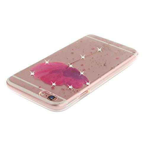 iPhone 6S Plus Arrière Etui, Coque iPhone 6 Plus Silicone, Coque iPhone 6 Plus Doux TPU, Moon mood® Ultra Mince Portable Transparent Couverture pour Apple iPhone 6S Plus 5.5 pouces Case Cover Coque de Style-8