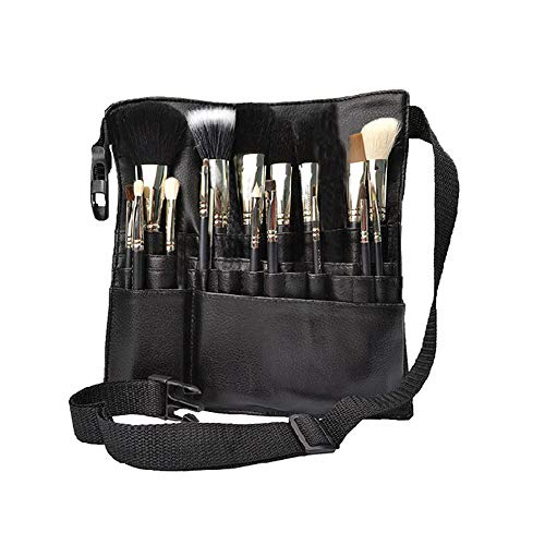 Make-up Artist Brush Belt (1pc Professional Pu Makeup Pushes Apron Bag Artist Belt Strap Black 22 Taschen Make Up Pushes Case Organizer Kosmetik-tool)