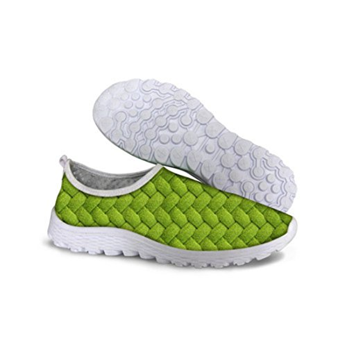 Men's Comfortable Green Athletic Shoes C0136AA
