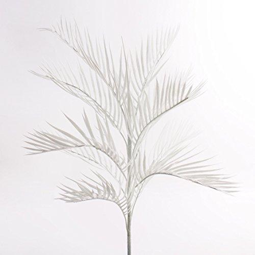 artplants – Deko Kentiapalme, 1-stämmig, uv-weiß, 90 cm – Künstlicher Palm Baum/Plastik Palmen Pflanze