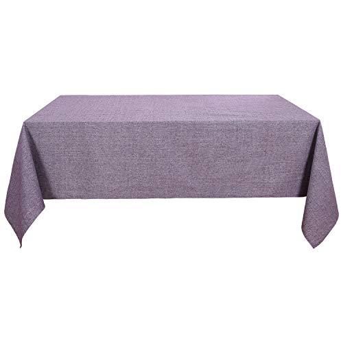 Wasserabweisend Tischdecke Deko Tischtuch Lotuseffekt 130x160 cm Lila ()
