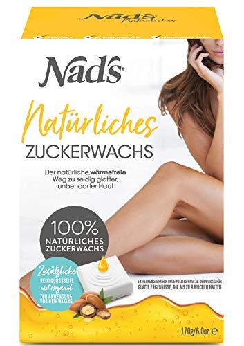 Nad's Zuckerpaste Haarentfernung Waxing Set für Gesicht, Körper, Rücken, Beine, Bikinizone, Arme, Achseln, Frauen+Männer