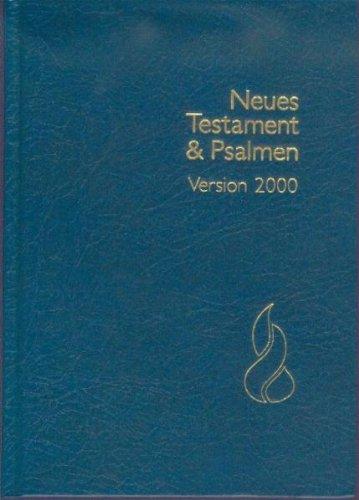 Schlachter N.T. & Psalmen: Schlachter 2000, Grossdruckausgabe, Gebunden, Blau