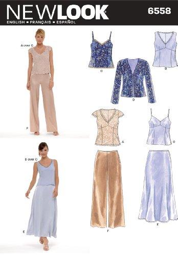 Simplicity New Look Misses' 6558Kleider-Schnittmuster für besondere Anlässe, Größe A, mehrfarbig