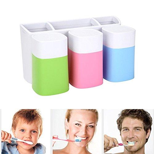 lzndeal Multifunction Toothbrush Holder Storage Box Bathroom Suction Hooks Tooth Brush Holder Bracket