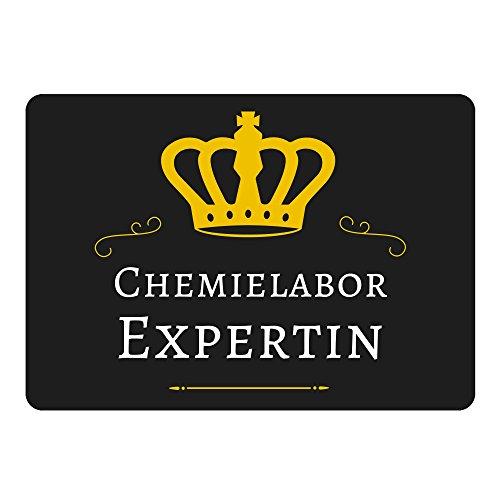 Mousepad Chemielabor Expertin schwarz