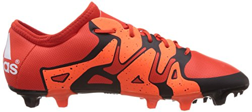 adidas X15.2 FG/AG, Chaussures de football homme Rouge - Rot (Bold Orange/Ftwr White/Solar Orange)