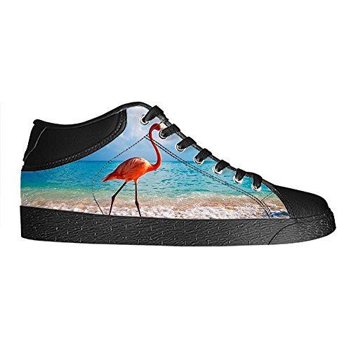 Dalliy Pink Flamingo Men's Canvas shoes Schuhe Lace-up High-top Sneakers Segeltuchschuhe Leinwand-Schuh-Turnschuhe A