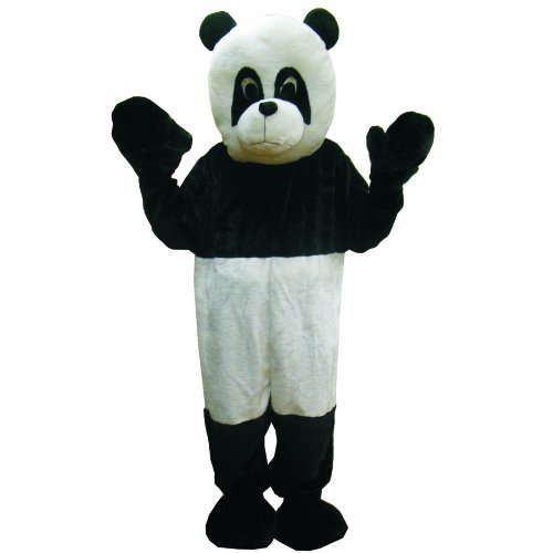Maskottchen Panda Kopf Kostüm (Dress Up America 475-Adult - Panda-Kostüm Set,)