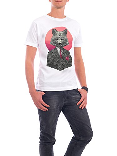 "Design T-Shirt Männer Continental Cotton ""Very Important Fox"" - stylisches Shirt Tiere von Ali GÜLEÇ Weiß"