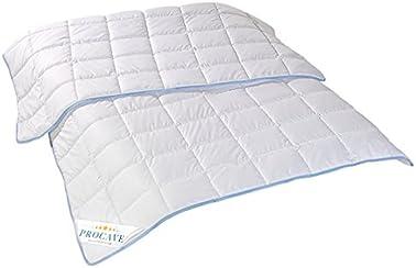 PROCAVE TopCool Qualitäts-Kinder-Bettdecke für den Sommer   Soft-Komfort   kochfeste Steppdecke   atmungsaktiv & wärmeausgleichend   Made in Germany   100x135cm