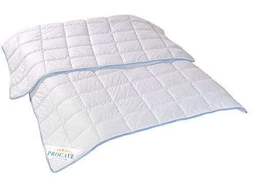 PROCAVE TopCool Qualitäts-Bettdecke für den Sommer | Soft-Komfort-Bettdecke | kochfeste Steppdecke | atmungsaktiv & wärmeausgleichend | Made in Germany | 135x200cm
