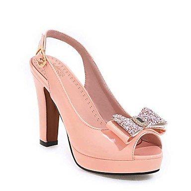 LvYuan Da donna-Sandali-Formale Casual Serata e festa-Altro-Quadrato-Vernice-Nero Rosa Rosso Bianco Beige Pink