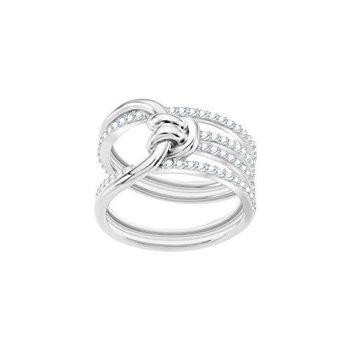 Swarovski Lifelong Wide Ring, weiss, rhodiniert