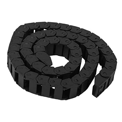 15 x 20mm 1M Plastic Towline Drag Chain Wire Carrier Black