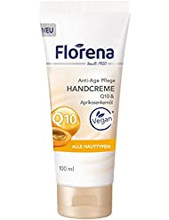 Florena Handcreme Q10 and Aprikosenkernöl, Anti-Age Pflege, 6er Pack (6 x 100 ml)