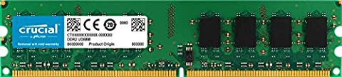 Crucial 1GB DDR2 800MHz (PC2-6400) Unbuffered UDIMM 240-Pin - (Ecc Unbuffered Dimm A 240 Pin)