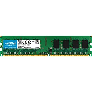 Crucial CT25664AA1067 Memoria da 2 GB, DDR2, 1066 MHz, PC2-8500, Unbuffered, DIMM, 240-Pin