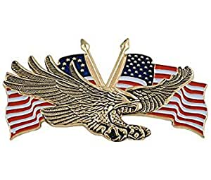 Add On Accessories 91-6207G Gold Flying Eagle with USA Flag