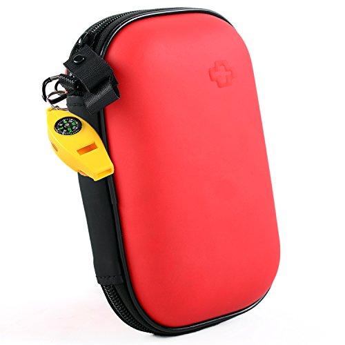 Kit di Pronto Soccorso Compatto Borsa-survival Kit con Coperte di Emergenza, Forbici Mediche, Pinzetta in Metallo per Casa, Auto, Campeggio, Ufficio, Caravan, lavoro, Viaggio