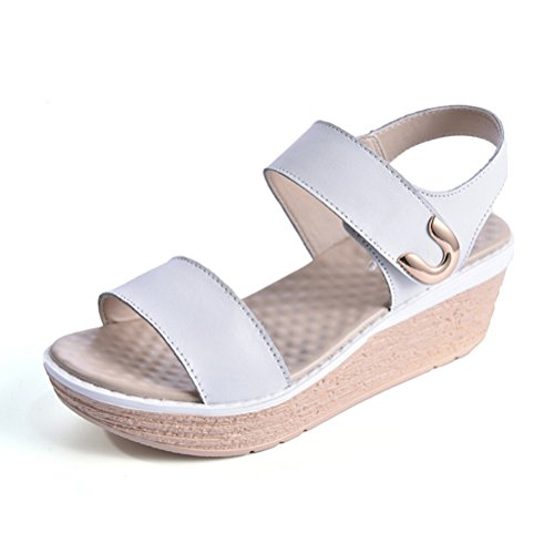 Trendy Stiefeletten Damen Schuhe Keil Wedges 2071 Silber Grau 41