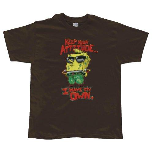 Old Glory–Spongebob Schwammkopf–Attitude Youth Jungen T-Shirt Gr. Small, braun (Schwammkopf-kleidung Spongebob)