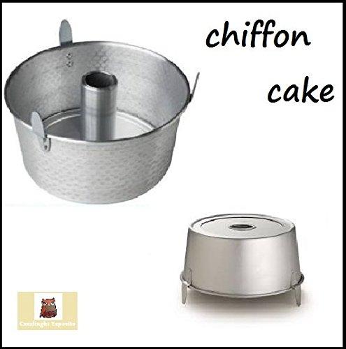 stampo chiffon cake angel cake ciambella americana cm 22 alluminio con piedini
