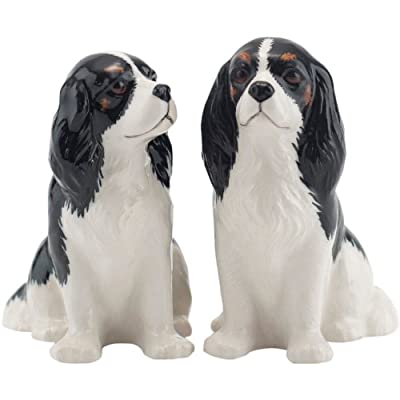 Quail Ceramics - Tri-colour Cavalier King Charles Spaniel Salt And Pepper Pots from Quail Ceramics