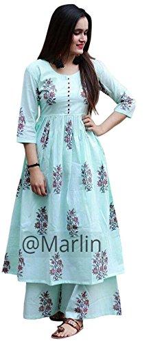 Marlin Women's Cotton Kurti With Palazzo Pant Set Kurti Palazzo set for...