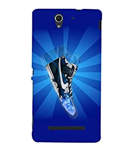 EPICCASE Shiny Sneakers Mobile Back Case Cover For Sony Xperia C3 (Designer Case)