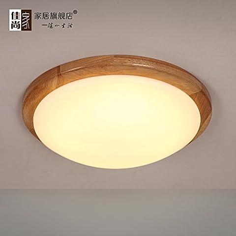 LINA-Ciondolo Vintage retrò tonalità chiare Contemporanea Ciondolo plafoniera luce metallo soffitto illuminazione lampada Lampada da soffitto in legno tondo , diameter 38