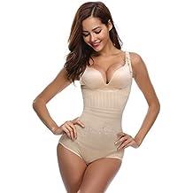 Aibrou faja reductora mujer abdomen con Gancho,cómodo y ligero Corsé Faja Para presumir de Buena Figura sin costuras