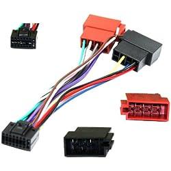 AERZETIX - Adaptateur Z7 ISO câble convertisseur fiche Faisceau Auto autoradio pour JVC - C1959