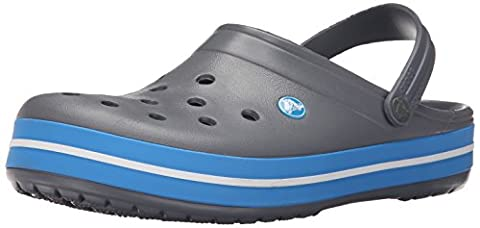 crocs Unisex-Erwachsene Crocband Clogs, Charcoal/Ocean, 42/43 EU
