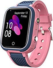 ساعة ذكية للأطفال 4G ساعة مقاومة للماء للأطفال والأولاد والبنات هدية ساعة ذكية رقمية لفتاة عمرها 10 سنوات، مكا