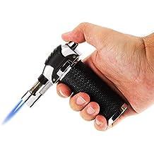 Encendedor de butano recargable con bloqueo de seguridad para soldar, resistente al viento, para