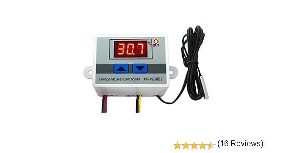 NAttnJf Thermostat contr/ôleur de temp/érature 12 220V 10A commutateur de Commande de Thermostat de contr/ôleur de temp/érature num/érique /électronique 220V