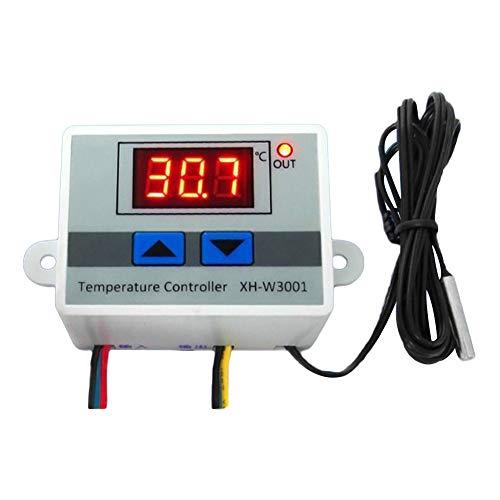 SIridescentZB 12 V / 220 V Digital LED Temperaturregler 10A Thermostat Schalter mit Sonde 220V