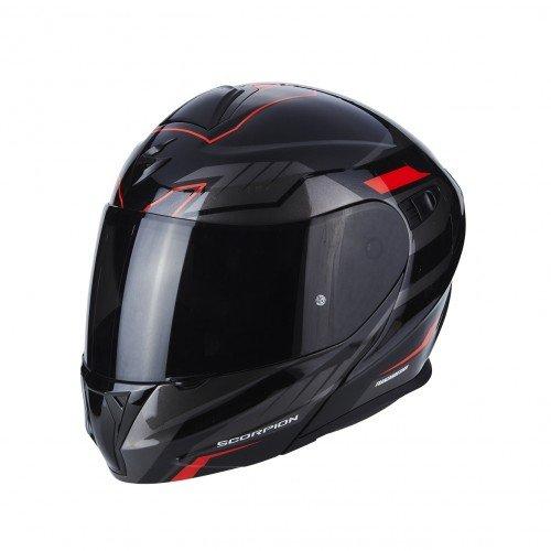 Scorpion Casco moto EXO-920 Shuttle Nero-Argento-Rosso L