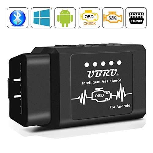 OBD2 Bluetooth Adapter, OBD2 Diagnosegerät für Android Windows Torque Interface OBDII Auto Scanner für Auto Car PKW KFZ, Code Leser Fehlerspeicher lesen und löschen