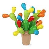 Decdeal Holz Kaktus Form Puzzle zum Stecken & Spielen 29-teilig Bauspielzeug Set Lernspielzeug für Kinder